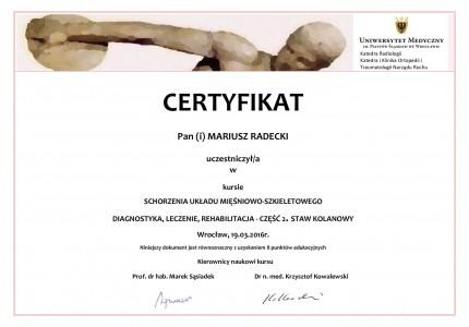 Certyfikat nr 20