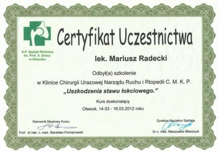 Certyfikat nr 30