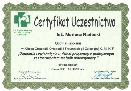 Certyfikat nr 28