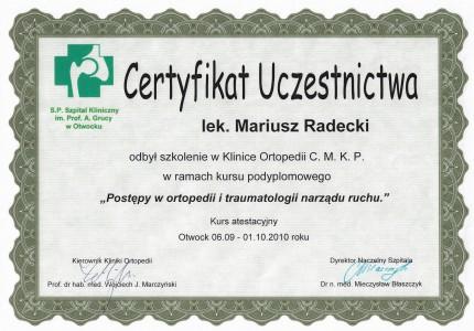 Certyfikat nr 40