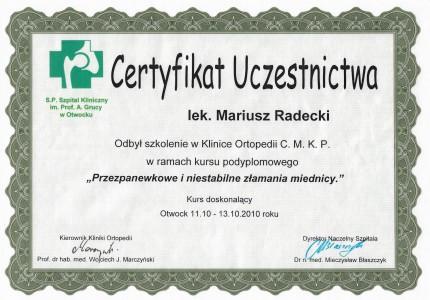 Certyfikat nr 37