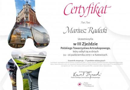 Certyfikat nr 14