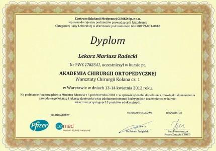 Certyfikat nr 27