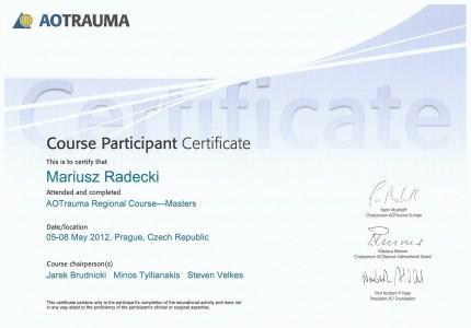 Certyfikat nr 13