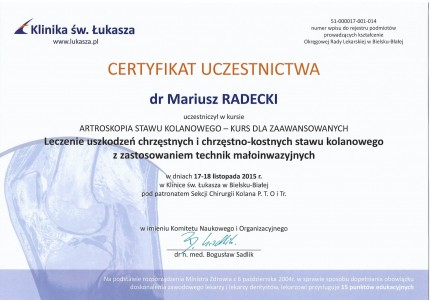 Certyfikat nr 21