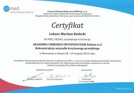 Certyfikat nr 25