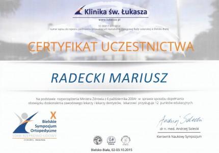 Certyfikat nr 22