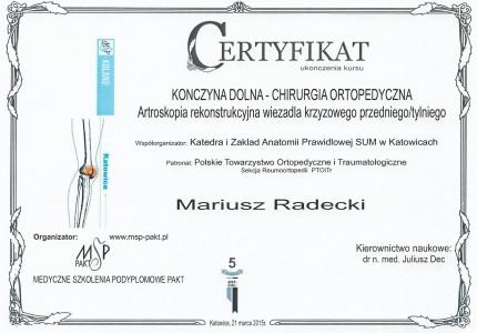 Certyfikat nr 26