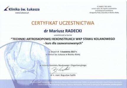 Certyfikat nr 17