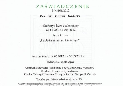 Certyfikat nr 31