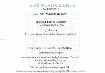 Certyfikat nr 38