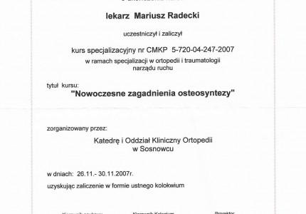 Certyfikat nr 47