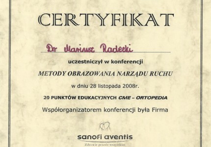 Certyfikat nr 43