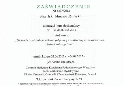 Certyfikat nr 29