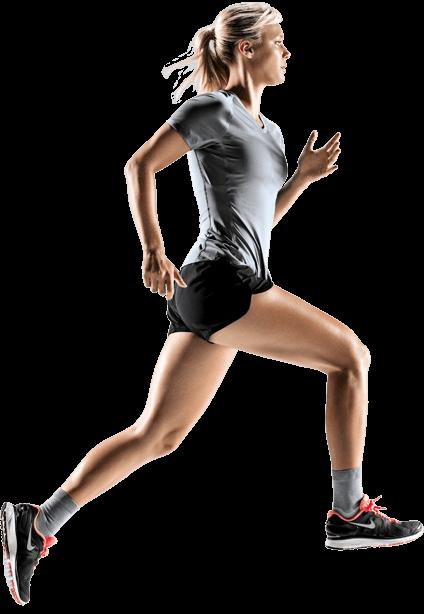 Sylwetka biegnącej kobiety